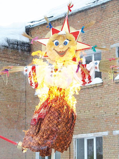 так сжигали Масленицу в Нижнем Одесе