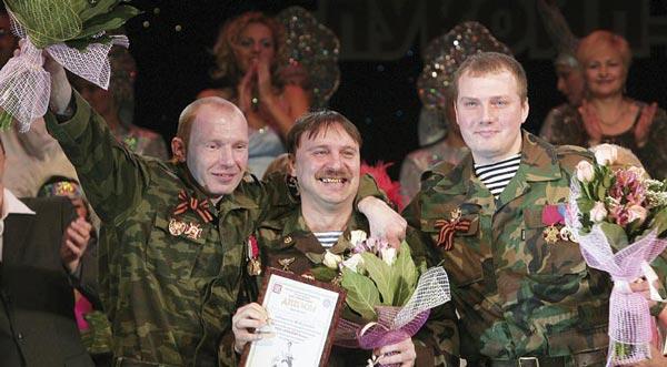 обладатели гран-при (слева направо) В. Иванов, А. Чухланцев и А. Ваняшин