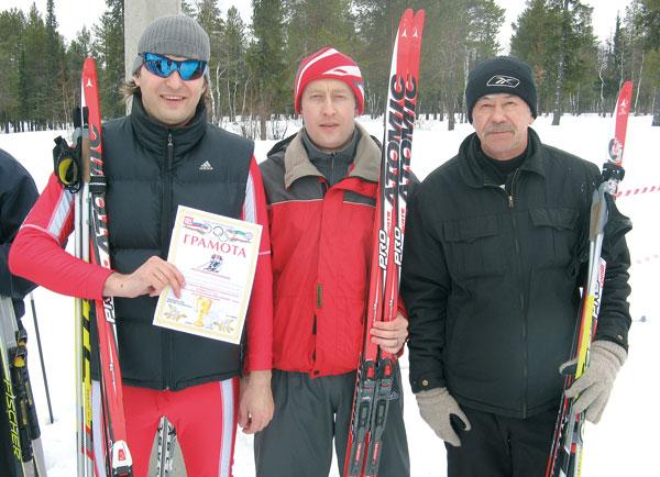 победители (слева направо) С. Герасимов, А. Белан и Н. Глухенько