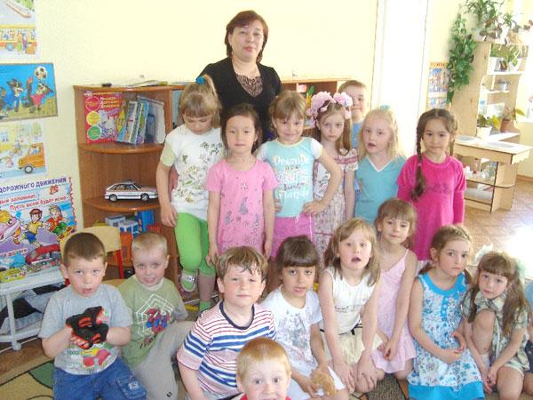 Р. Хизбуллина с детьми