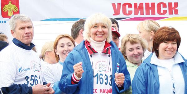 на старте марафона «Кросс наций» в Усинске