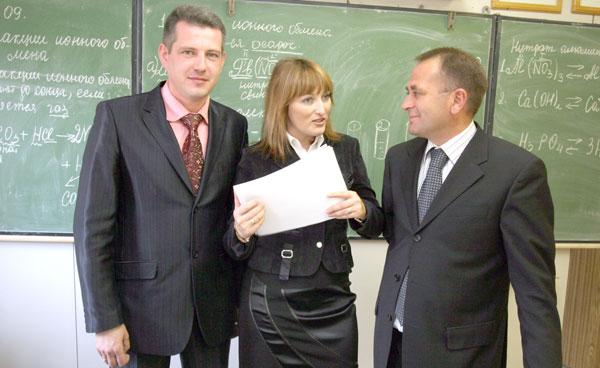 А. Короваев (слева), И. Паринова и В. Руденко
