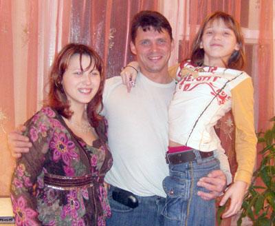 Д. Шиляев с дочками