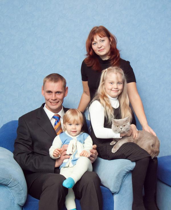 Сергей Шабалин с семьей