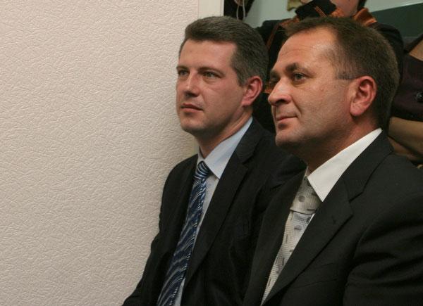 А Короваев (слева) и В. Руденко