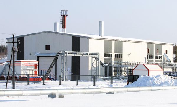 Здание новой парогенераторной установки на Усинском месторождении