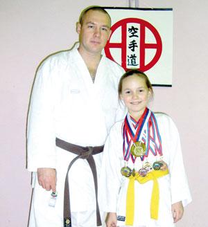 Тренер Владимир Зубов с победительницей первенства России Юлей Шергиной