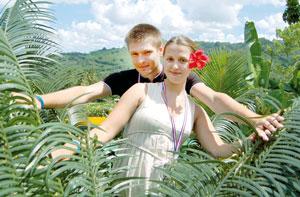 Молодые супруги Арабидзе во время медового месяца