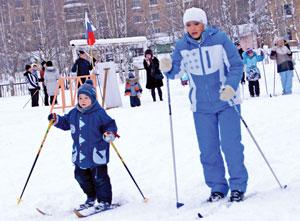 На лыжне Виталик Чубирко