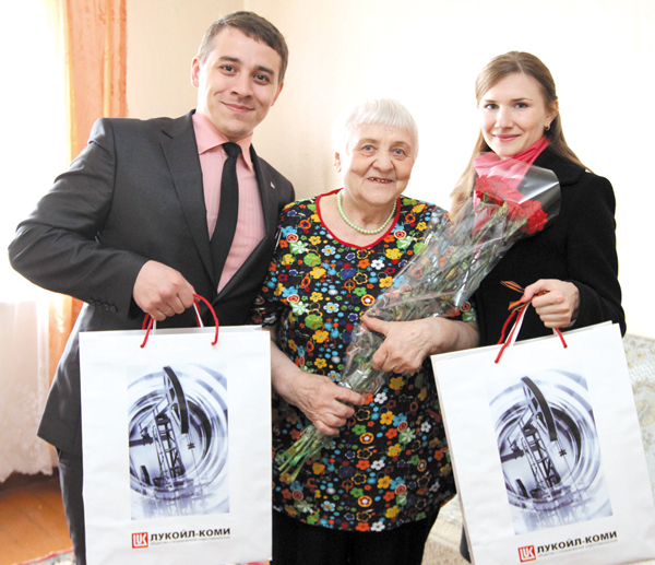 В. Я. Столярчук с гостями из «ЛУКОЙЛ-Коми»