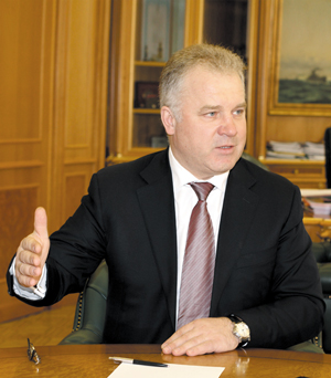 Петр Васильевич во время интервью