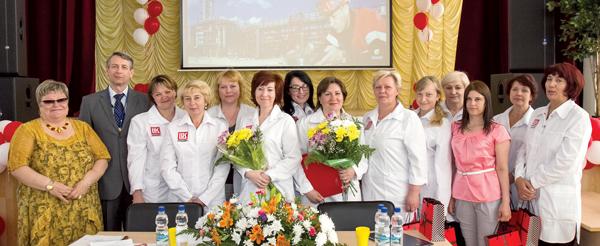 Участницы конкурса лаборантов