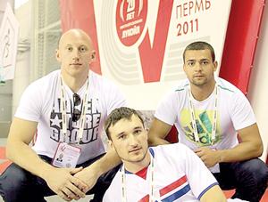 А. Скобеев, И. Жирков и А. Гречаников