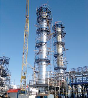 будущие колонны отдувки нефти от сероводорода на УПН «Баянды»