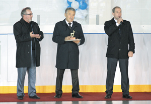 (слева направо) А. Коловангин, А. Тян, Н. Кулябов