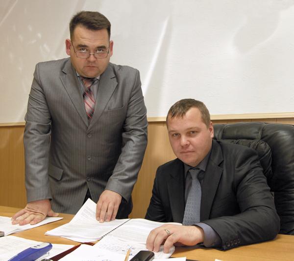 Н. Щукин (справа) и его заместитель Д. Ибрагимов