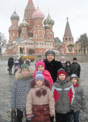 Воспитанники Усинского детского дома на Красной площади