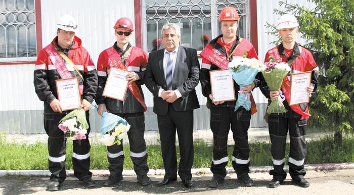 (слева направо) А. Загурский, В. Ярославцев, Н. Виноградов, А. Свинарик, Н. Дуванский