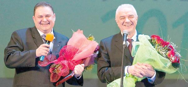 К. Давыдович (слева) и Н. Цхадая