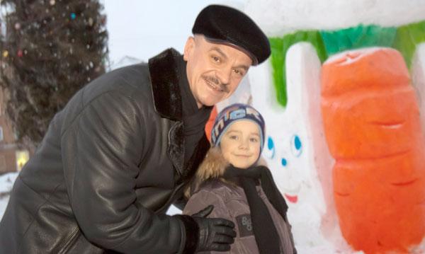 А.Хаджогов в снежном городке