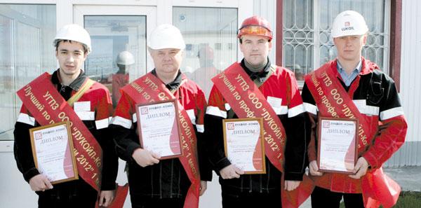 Победители в номинациях (слева направо): А. Миннигалиев, Н. Кислица, С. Добряков