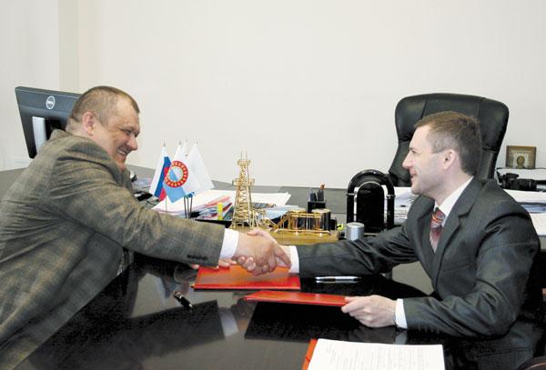 А. Болсун (слева) и В. Ледков