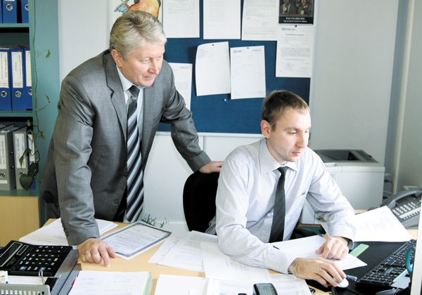 П. Минчуков (слева) и Р. Шарафутдинов