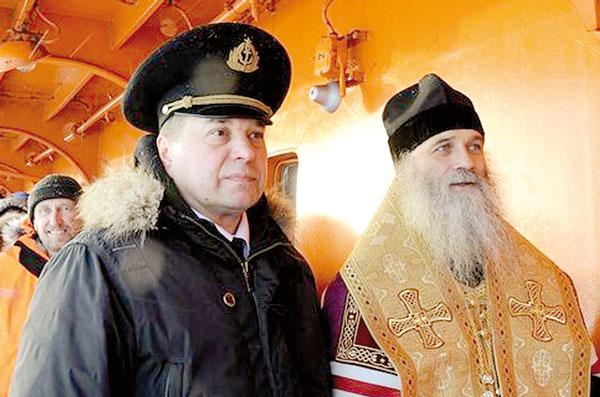 С капитаном «России» А. Спириным