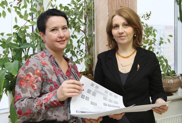 О. Осипова (справа) и И. Мамонтова