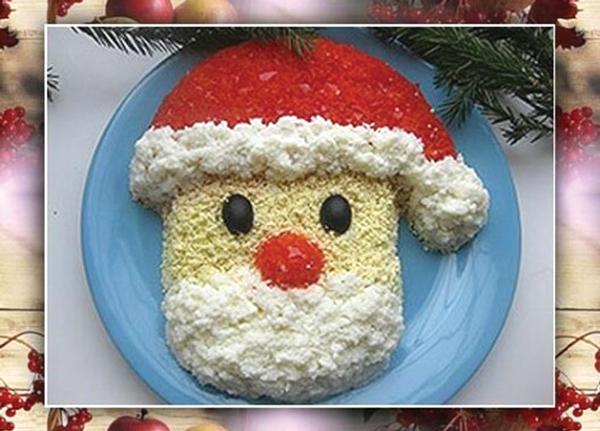 Салат «Дед Мороз – красный нос»