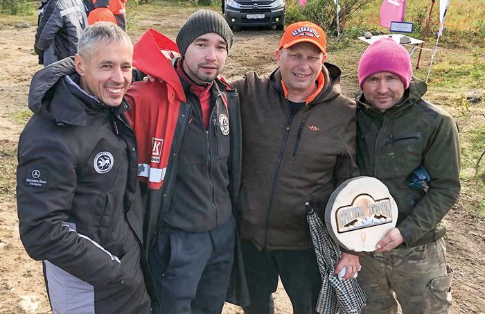 С Андреем и Наилем, экипажем ТР-3 (город Казань), который мы вытянули из ущелья